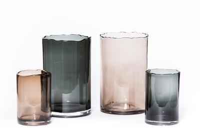 Glazen Windlicht Mocha XL - Ø 22 cm x 35 cm