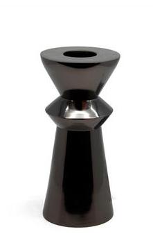 Waxinelichthouder Pilaar Zwart - ⌀ 9,5 cm