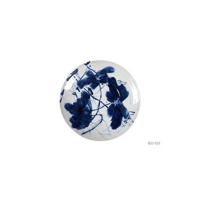 Porseleinen Schaal Blauw Wit Handbeschilderd