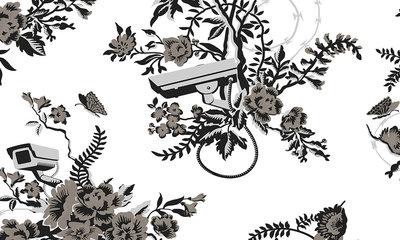 Camera Behang ARTE Vigilant Floral