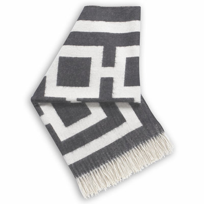 Jonathan Adler Plaid Baby Alpaca Nixon Charcoal / Natural