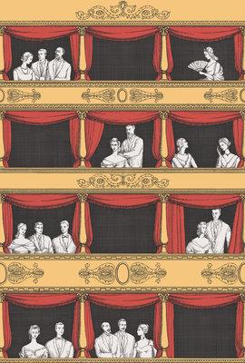 Teatro Behang Fornasetti 2 geel rood