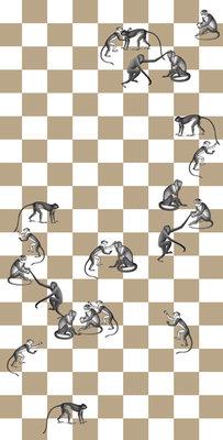 Fornasetti Checkmate Behang