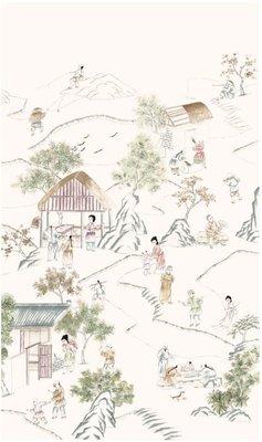 Chinoiserie Behang D'Arts The Long Corridor