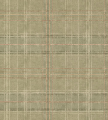 Shetland Plaid Behang Mulberry Home