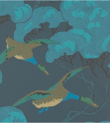 Flying Ducks Behang Mulberry Home
