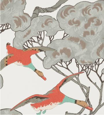 Eenden Behang Mulberry Home Flying Ducks