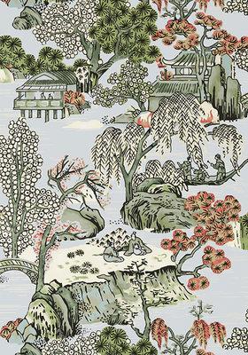 Asian Scenic Behang Thibaut