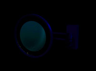Make-up Spiegel BS 36 Wandmodel LED 3x Nikkel