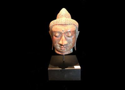 Boeddha Hoofd Op Sokkel