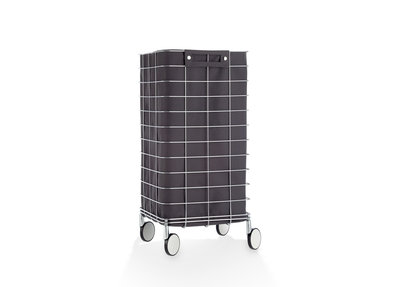 Wasmand Trolley Decor Walther RVS Antraciet