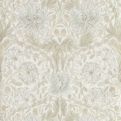 Morris Co Pure Honeysuckle & Tulip Behang - Linen