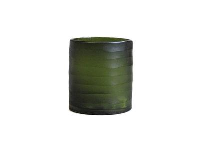 Groene Waxinelichthouder Glas