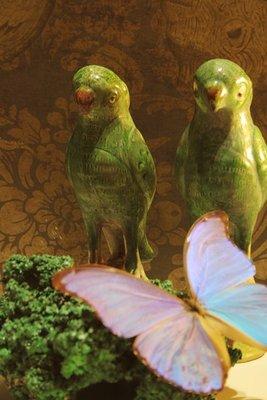 Beeldje Chinese Groene Papegaai (Parrot)