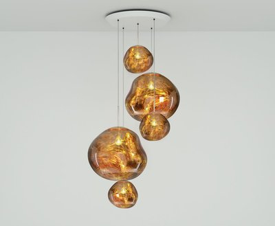 Tom Dixon Hanglamp Melt Gold Large Round