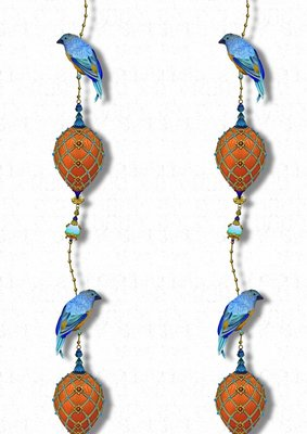 Kit Miles Pendants and Ornamental Birds Behang