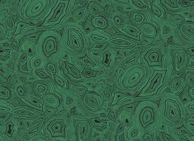 Fornasetti Malachite Behang Groen
