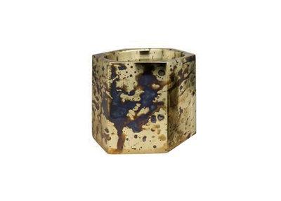 Waxinelichthouder Ijzer Goud Medium