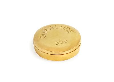 Jonathan Adler Brass Pill Box Quaalude