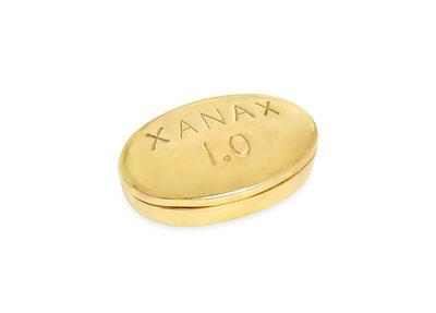 Jonathan Adler Brass Pill Box Xanax