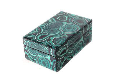 Opbergdoos Malachiet Medium Turquoise