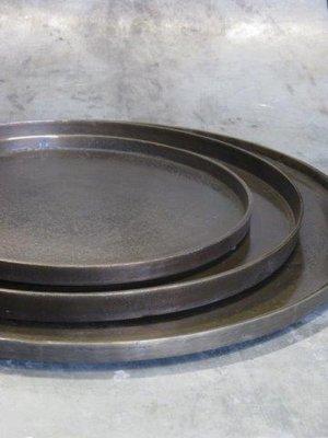 Aluminium Dienblad 55 cm 'Antique Brass'