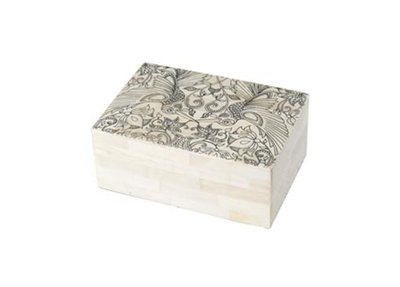 Opbergdoos Floral Box Bone