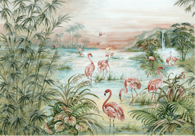 Coordonne Roseus Behang Flamingo
