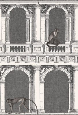 Fornasetti Procuratie e Scimmie Behang