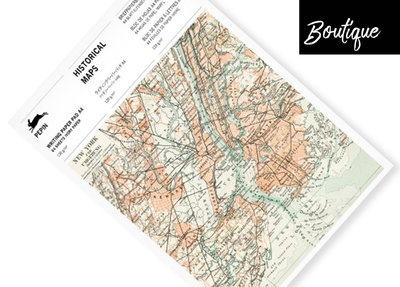 Pepin Press Blocnote Historical Maps Writing Paper