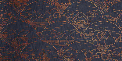 Moooi Indigo Macaque Behang