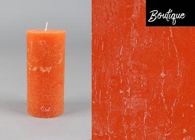 Oranje Stompkaars Rustiek