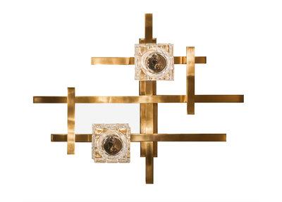 Lumière Wandlamp Goud Geometrisch