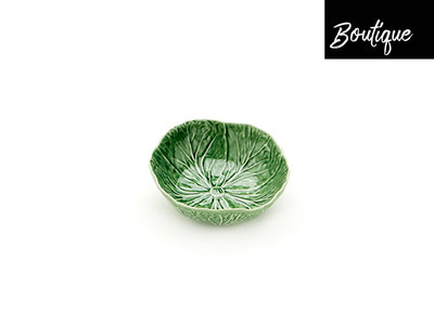 Bordallo Schaal Keramiek Koolbladeren Groen