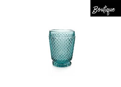 Diamond Waterglas Blauw