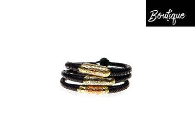 Leren Armband Touareg Zwart
