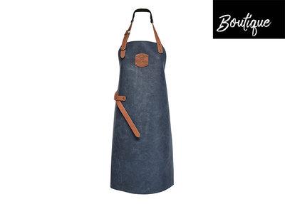 Cuisinova Keukenschort Blauw Leer