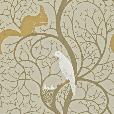 Squirrel & Dove: Linen/Ivory