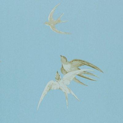 Sanderson Swallows behang - Wedgwood
