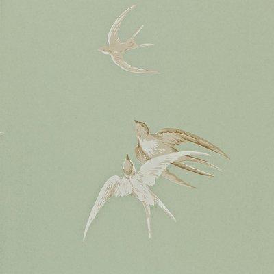 Sanderson Swallows Behang - Pebble
