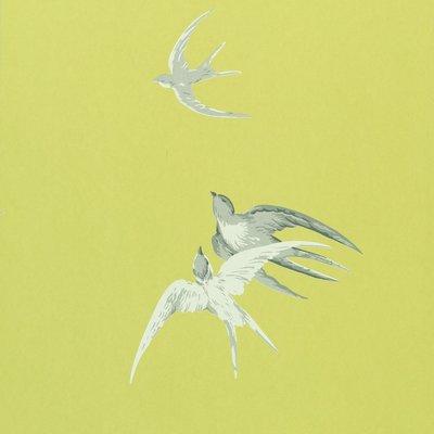 Sanderson Swallows Behang - Lime