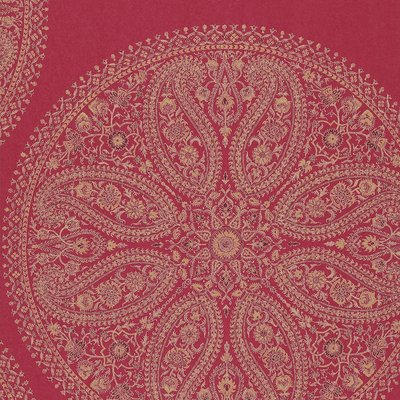 Paisley Circles  Red