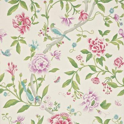Porcelain Garden Magenta / Leaf Green