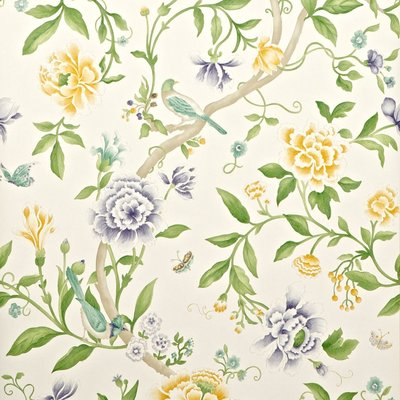 Porcelain Garden Lemon / Leaf Green