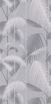 Palm Jungle Zilver Grijs