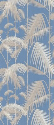 Palm Jungle Blauw Grijs