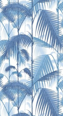 Palm Jungle Blauw Wit x