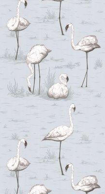Flamingos Blauw