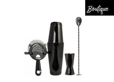 Luxe Bar Set Gun Metal 4 pcs