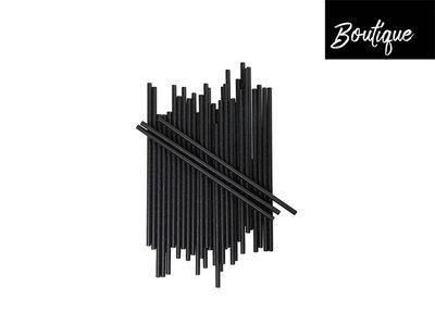 Papieren Rietjes Zwart Eco 250 stuks